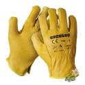 Guantes tipo conductor amarillo 12 unidades Safetop
